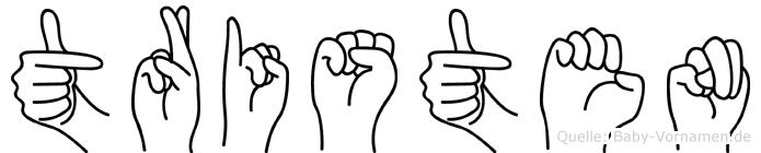 Tristen in Fingersprache für Gehörlose