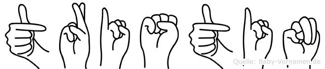 Tristin in Fingersprache für Gehörlose