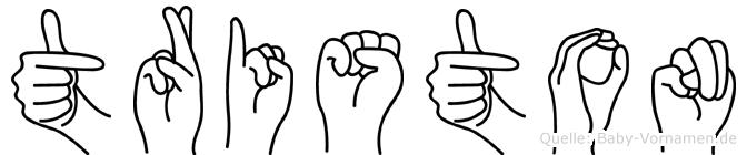 Triston in Fingersprache für Gehörlose