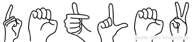 Detlev in Fingersprache für Gehörlose