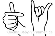Ty in Fingersprache für Gehörlose
