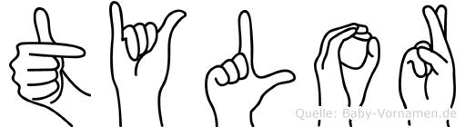 Tylor in Fingersprache für Gehörlose