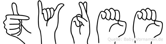 Tyree in Fingersprache für Gehörlose