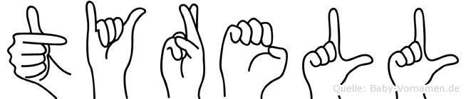 Tyrell in Fingersprache für Gehörlose
