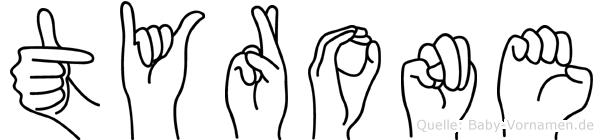 Tyrone in Fingersprache für Gehörlose