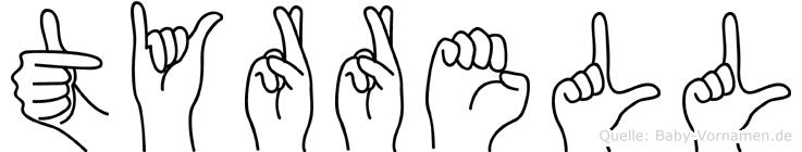 Tyrrell im Fingeralphabet der Deutschen Gebärdensprache