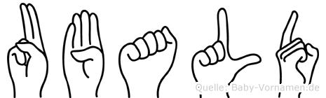 Ubald in Fingersprache für Gehörlose