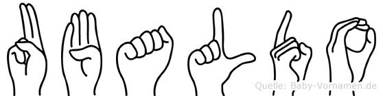 Ubaldo im Fingeralphabet der Deutschen Gebärdensprache