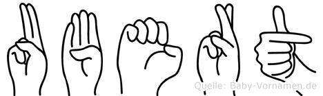 Ubert im Fingeralphabet der Deutschen Gebärdensprache