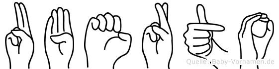 Uberto im Fingeralphabet der Deutschen Gebärdensprache