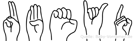 Ubeyd im Fingeralphabet der Deutschen Gebärdensprache