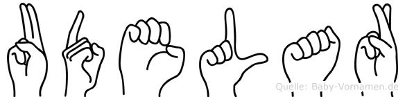 Udelar in Fingersprache für Gehörlose