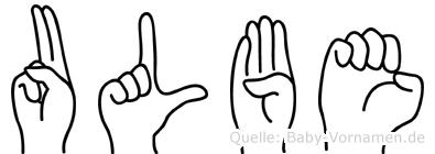 Ulbe im Fingeralphabet der Deutschen Gebärdensprache