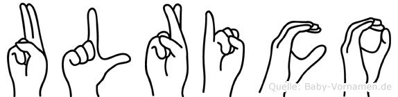 Ulrico im Fingeralphabet der Deutschen Gebärdensprache