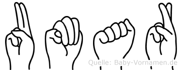 Umar in Fingersprache für Gehörlose