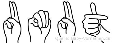 Umut in Fingersprache für Gehörlose