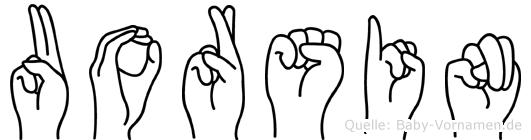Uorsin in Fingersprache für Gehörlose