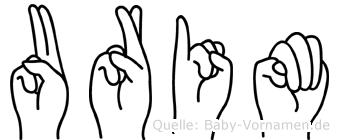 Urim in Fingersprache für Gehörlose