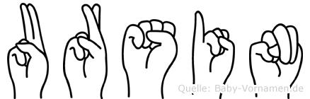 Ursin in Fingersprache für Gehörlose