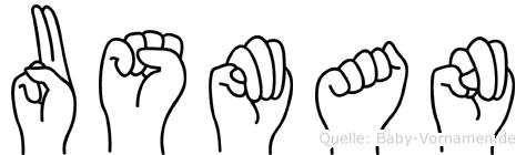 Usman im Fingeralphabet der Deutschen Gebärdensprache