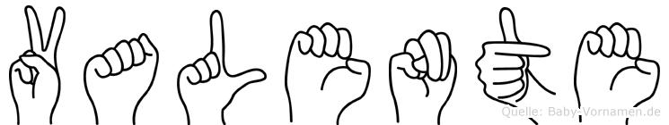 Valente in Fingersprache für Gehörlose