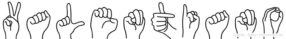 Valentiano in Fingersprache für Gehörlose