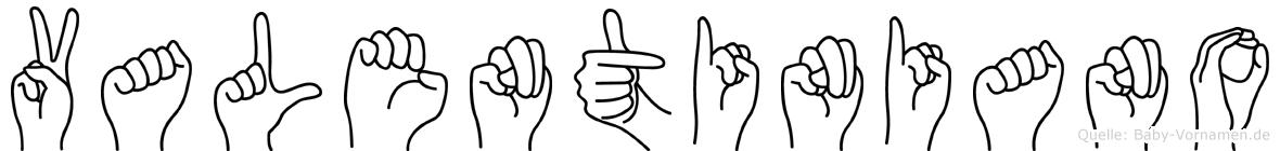 Valentiniano in Fingersprache für Gehörlose