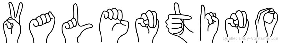Valentino im Fingeralphabet der Deutschen Gebärdensprache