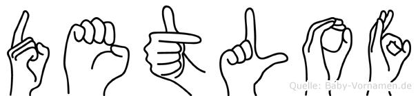 Detlof in Fingersprache für Gehörlose