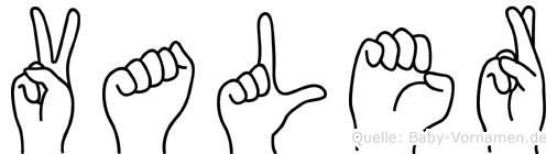 Valer in Fingersprache für Gehörlose