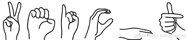 Veicht in Fingersprache für Gehörlose
