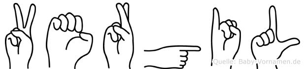 Vergil im Fingeralphabet der Deutschen Gebärdensprache