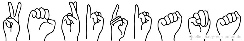 Veridiana im Fingeralphabet der Deutschen Gebärdensprache