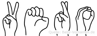 Vero im Fingeralphabet der Deutschen Gebärdensprache