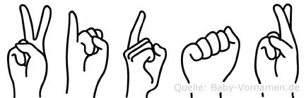 Vidar im Fingeralphabet der Deutschen Gebärdensprache