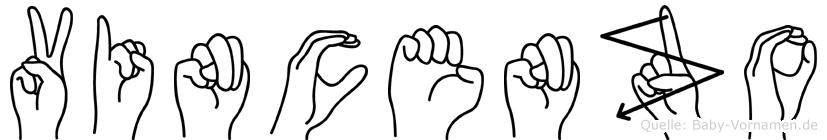 Vincenzo im Fingeralphabet der Deutschen Gebärdensprache