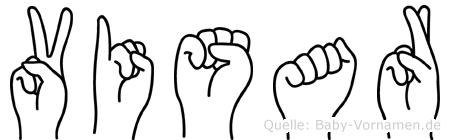 Visar im Fingeralphabet der Deutschen Gebärdensprache
