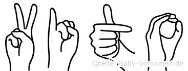 Vito in Fingersprache für Gehörlose