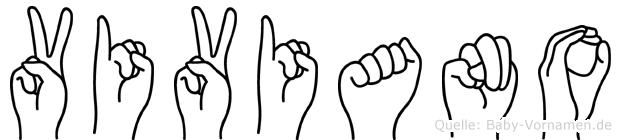 Viviano im Fingeralphabet der Deutschen Gebärdensprache