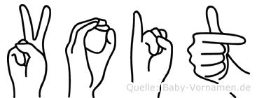 Voit im Fingeralphabet der Deutschen Gebärdensprache
