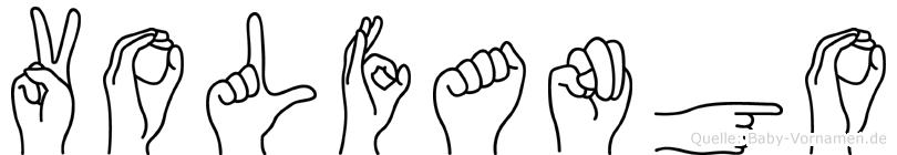 Volfango im Fingeralphabet der Deutschen Gebärdensprache