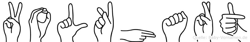Volkhart in Fingersprache für Gehörlose