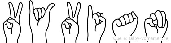 Vyvian in Fingersprache für Gehörlose