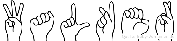 Walker im Fingeralphabet der Deutschen Gebärdensprache