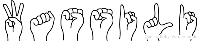 Wassili im Fingeralphabet der Deutschen Gebärdensprache