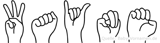 Wayne im Fingeralphabet der Deutschen Gebärdensprache