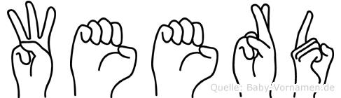 Weerd in Fingersprache für Gehörlose