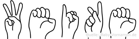 Weike in Fingersprache für Gehörlose
