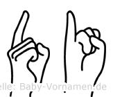 Di im Fingeralphabet der Deutschen Gebärdensprache
