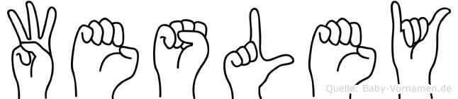 Wesley in Fingersprache für Gehörlose